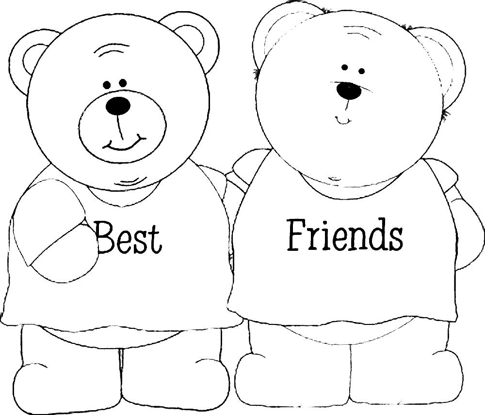 friend coloring pages - photo#4